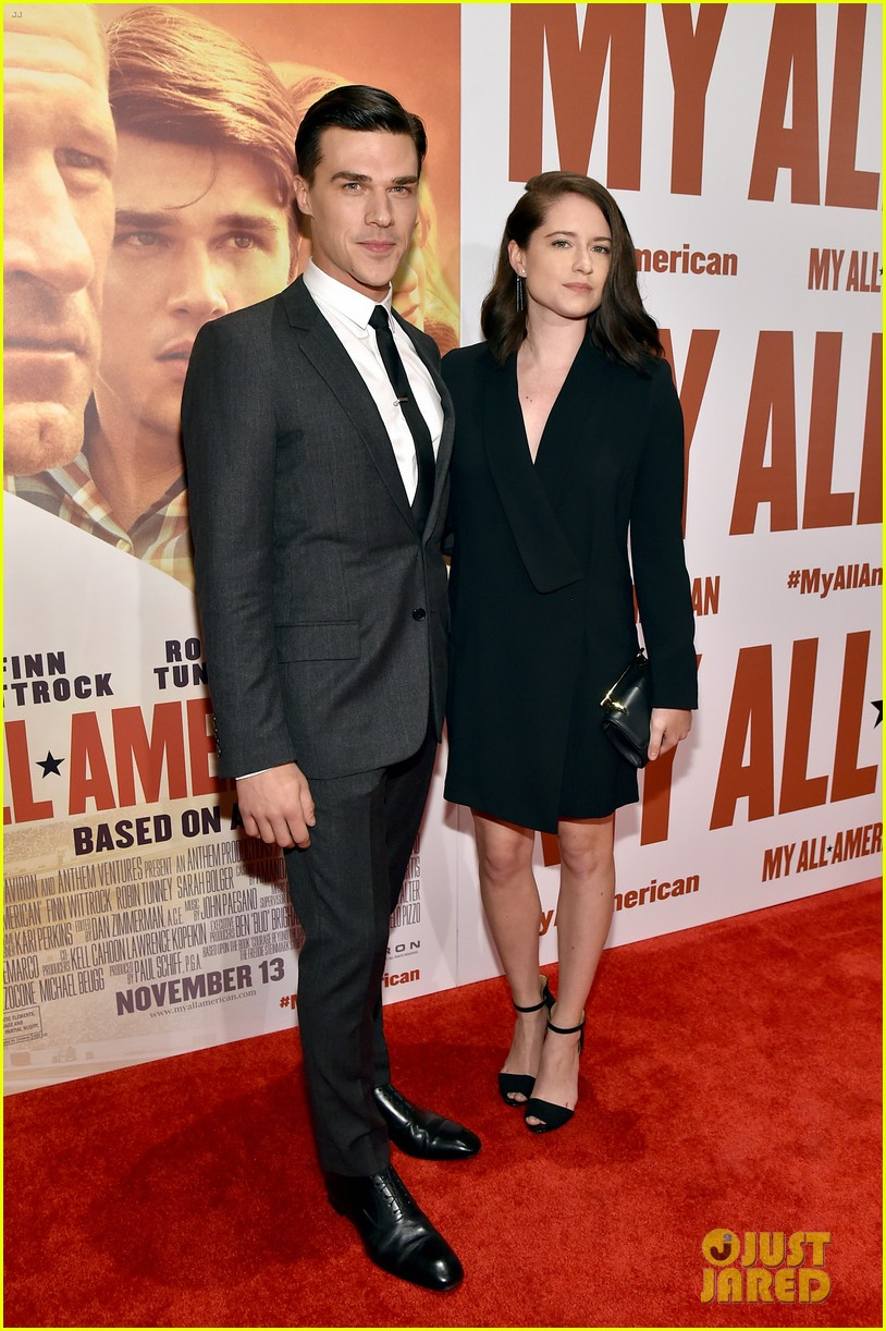 finn wittrock gets support from ahs co stars at my all american premiere 05