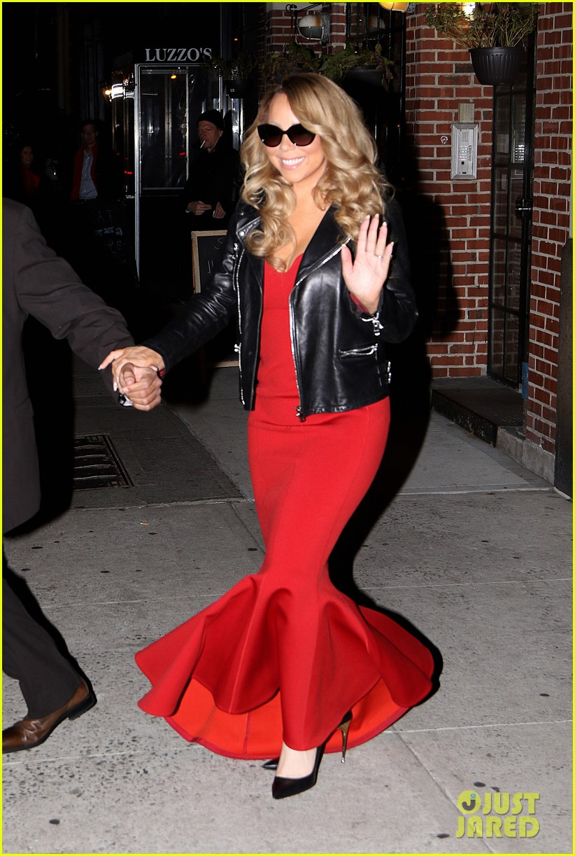 mariah carey glams up for her christmas show arrivals 013529383