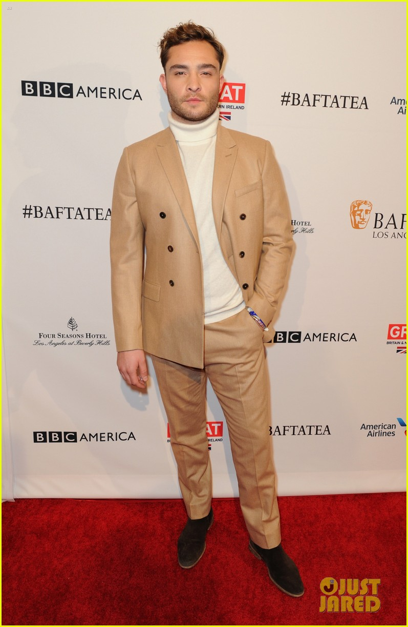 Saoirse Ronan & Ed Westwick Step Out For BAFTA's Los Angeles Awards ... Ed Westwick