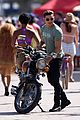 zac efron films baywatch on motorcycle 09