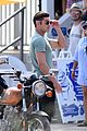 zac efron films baywatch on motorcycle 19