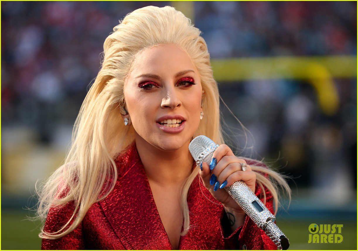 Lady Gaga Sings National Anthem at Super Bowl 2016 (Video): Photo ... Lady Gaga