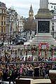 gal gadot filming wonder woman london trafalgar square 27