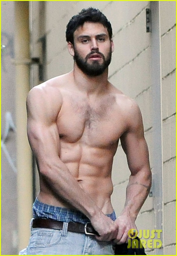 ryan guzman shows off rock hard abs at photoshoot 023587217