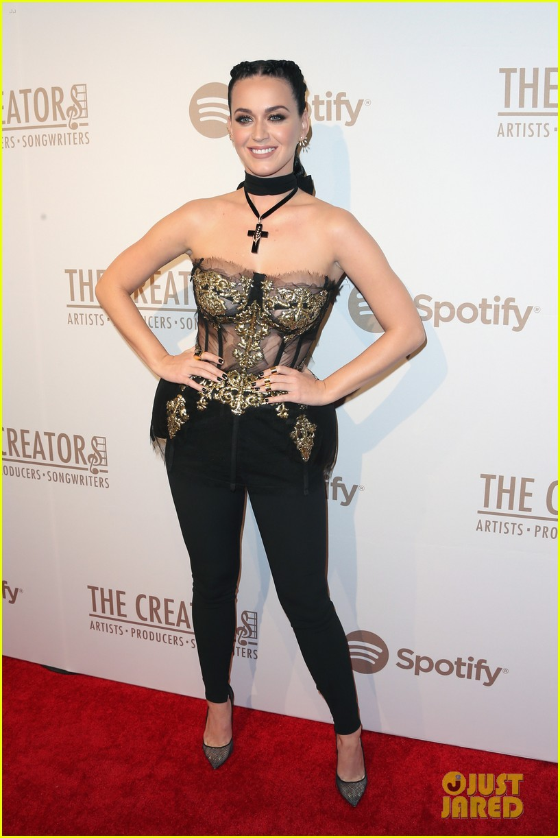Katy Perry Hosts Ariana Grande At Spotify S The Creators
