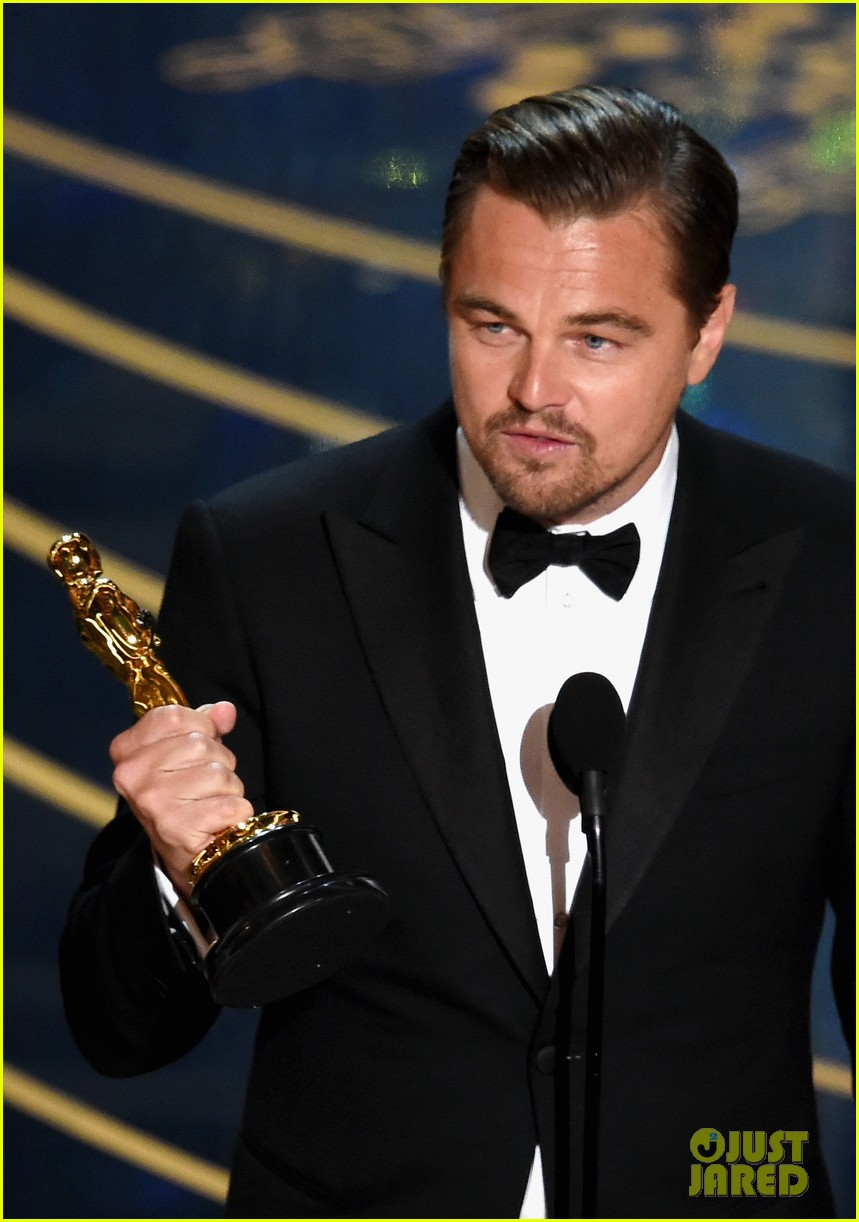 Leonardo DiCaprio Finally Wins an Oscar After Six Nominations Leonardo Dicaprio