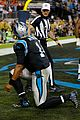 cam newton walks out during post super bowl press conference 09