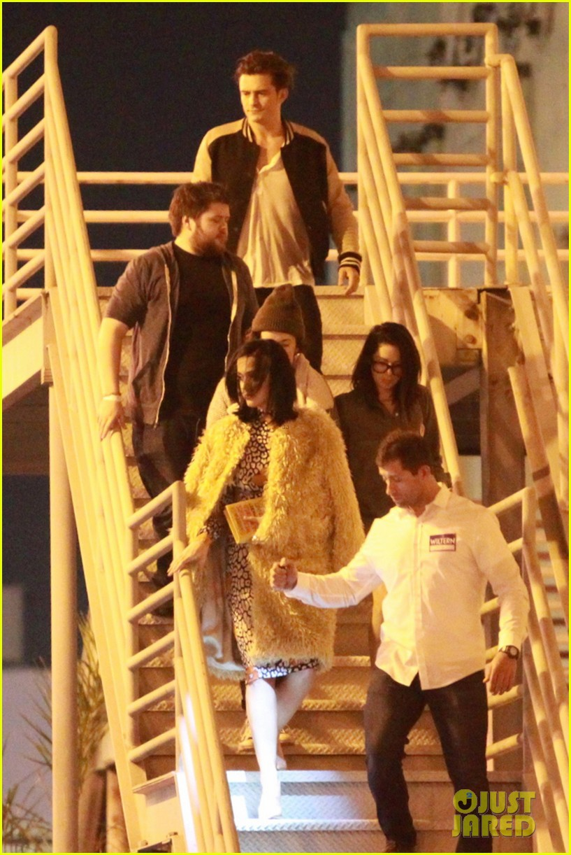 katy perry and orlando bloom couple up at adele concert 123576577