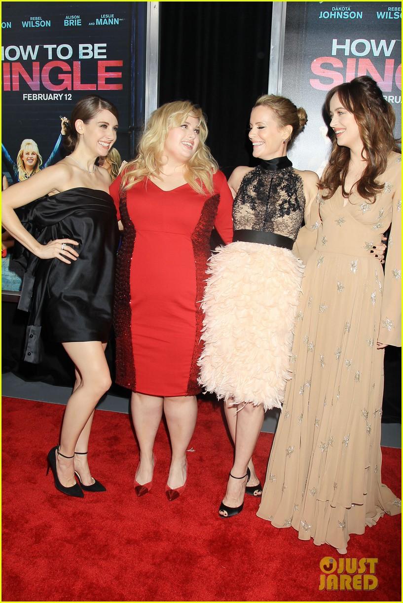 Dakota Johnson & Rebel Wilson Premiere 'how To Be Single' In New York City