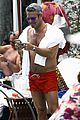 andy cohen shirtless pool easter miami 16