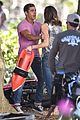zac efron the rock film baywatch on a scooter 66