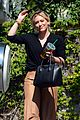 hilary duff son luca takes the fire truck around the neighborhood 03