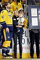 carrie underwood baby isaiah support mike fisher at 1000th nhl game 02