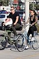 joel kinnaman goes for bike ride with cleo wattenstrom 01