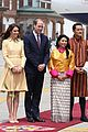 prince william kate middleton recieve warm welcome by king queen bhutan 01