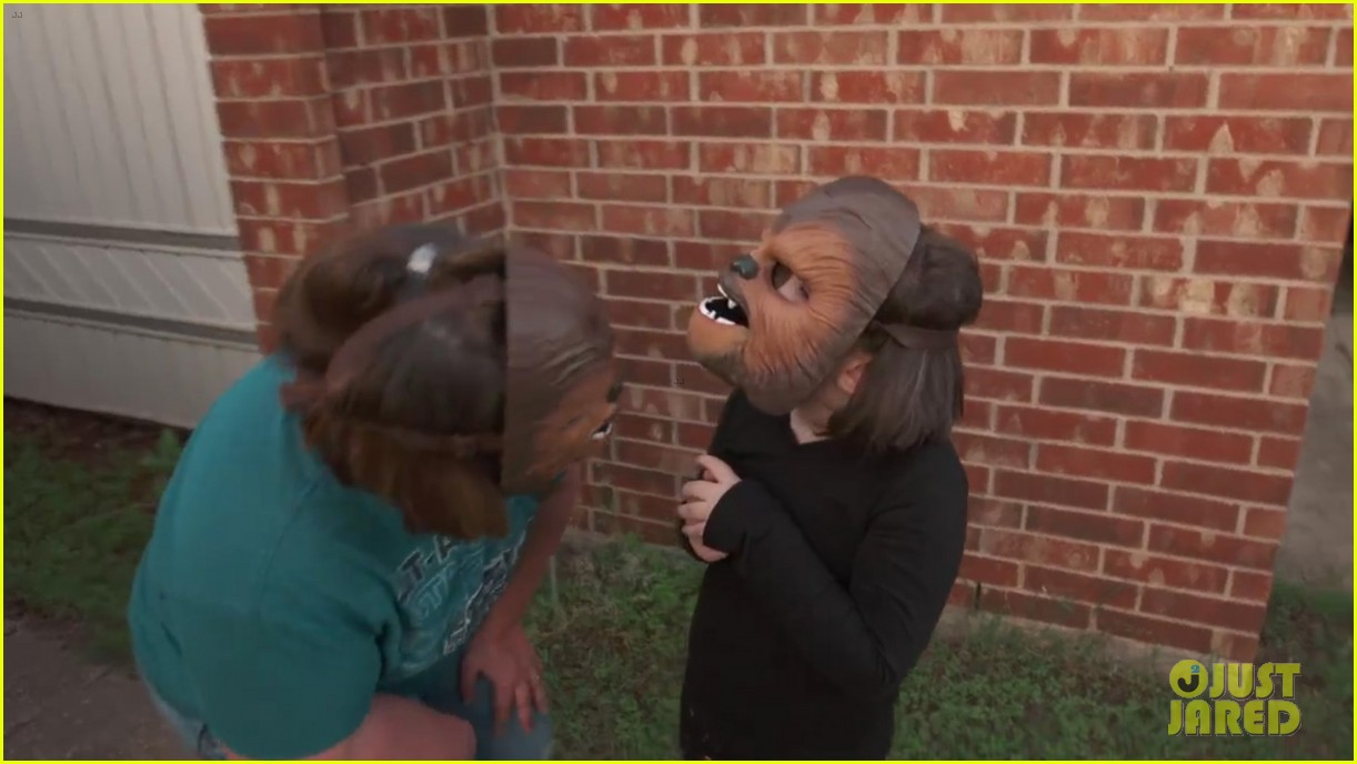 chewbacca lady her kids get more masks from kohls 083662267