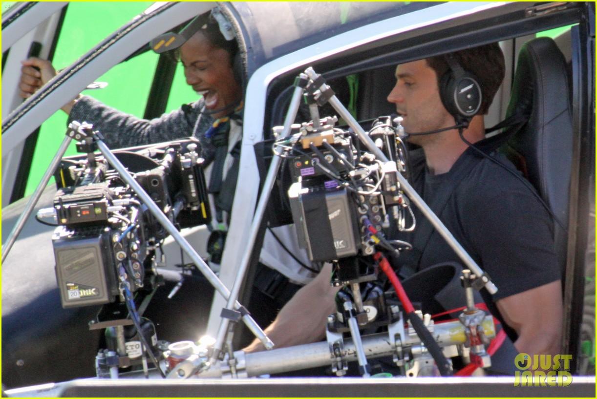 Fifty Shades Darker: Jamie Dornan Films Helicopter Crash ...