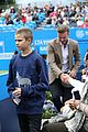 david beckham takes in a tennis match with son romeo 30