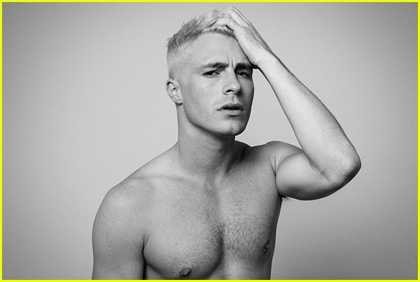 Colton Haynes bleached hair