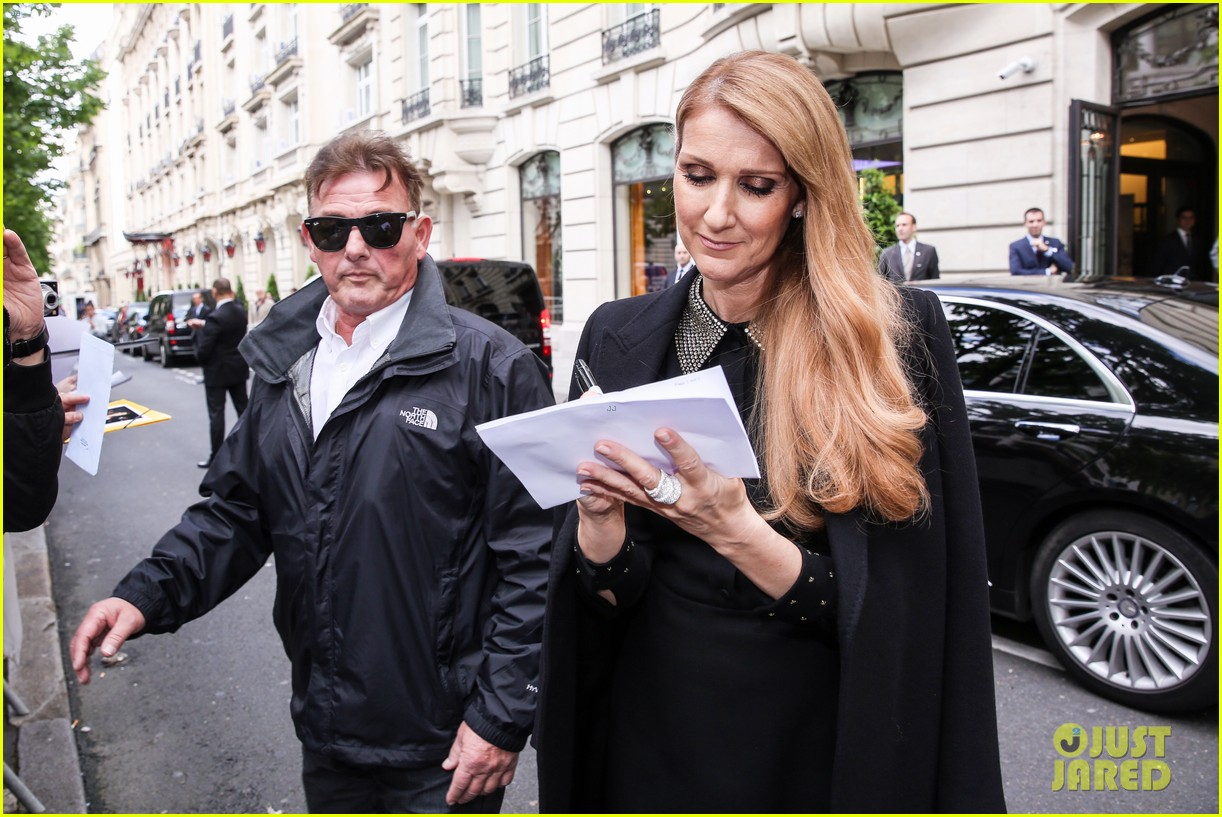 celine dion leaves hotel paris family 143683201