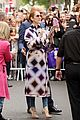 celine dion is pure elegance in her purple parisian outfit 09