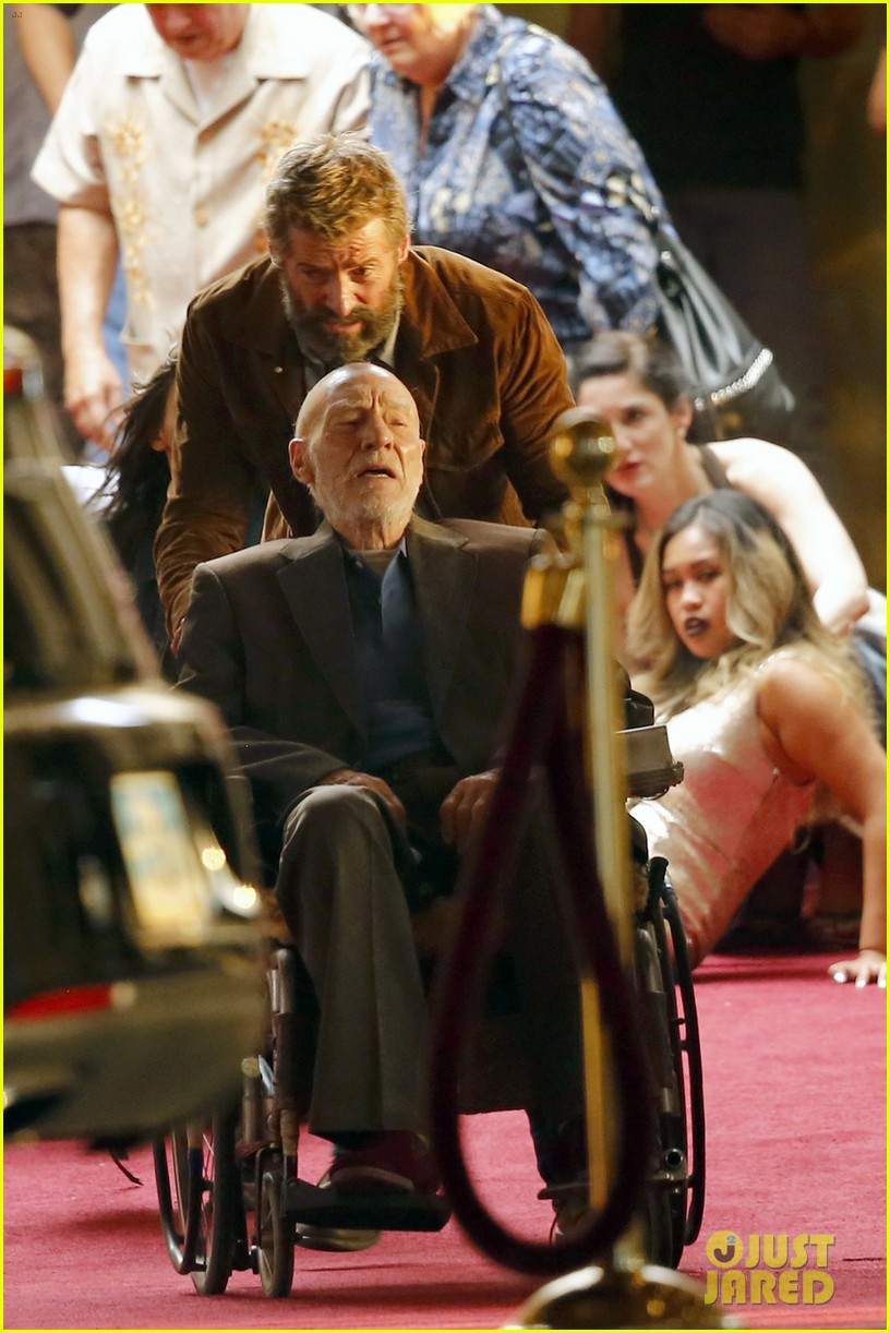"""Logan"" : "" Wolverine 3 "" de James Mangold avec Hugh Jackman - Page 2 Hugh-jackman-films-wolverine-3-scenes-with-patrick-stewart-01"