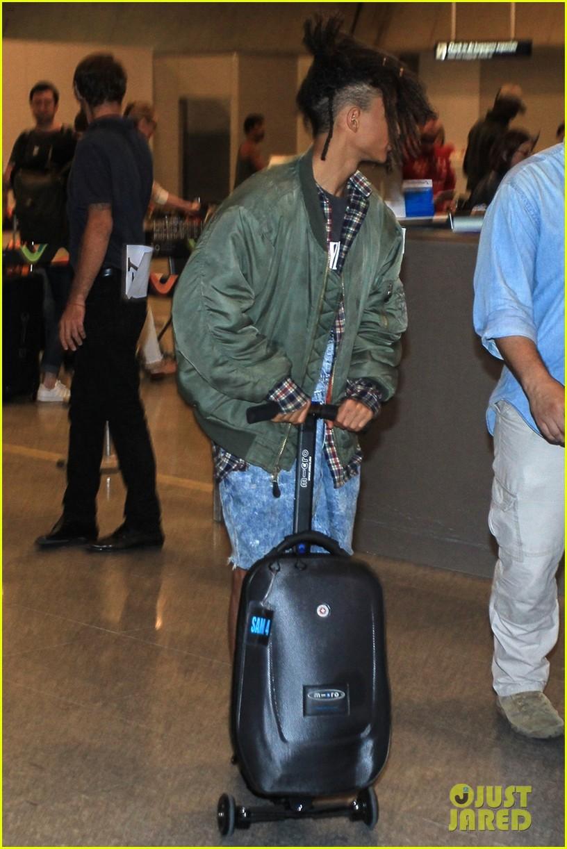jaden smith arrives brazil luggage scooter 213672124