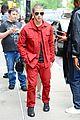 nick jonas red suit aol build appearance 07