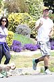 patrick schwarzenegger walks dog maria 06