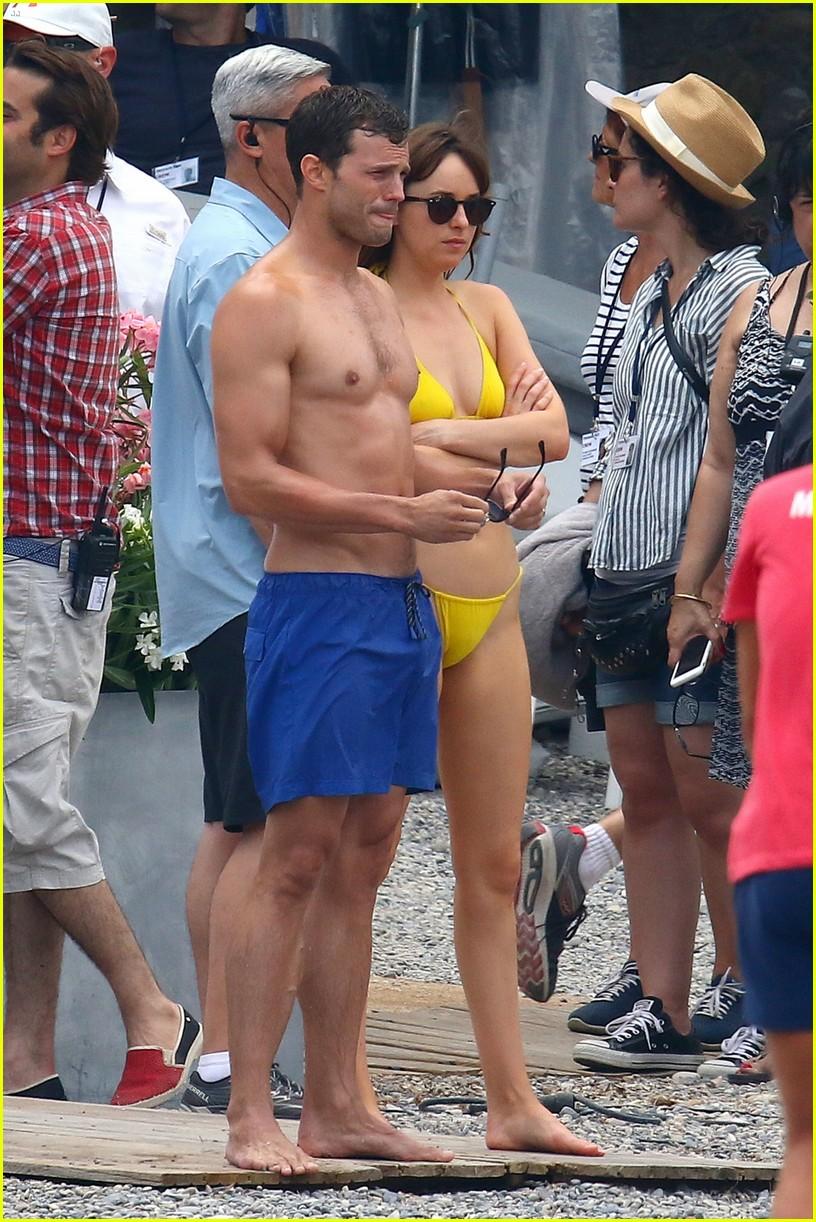Jamie Dornan S Wife Amelia Warner Joins Him For Fifty