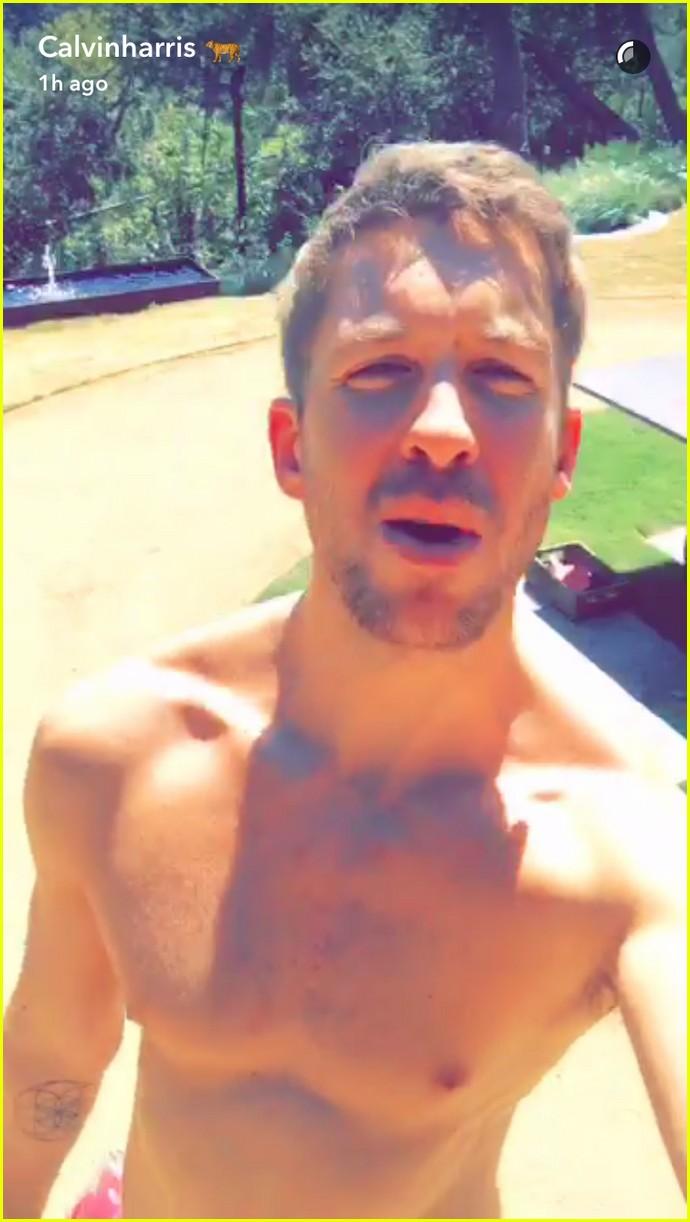 Calvin Harris Goes Shirtless On Snapchat To Celebrate Vma Noms Photo 3718134 Calvin Harris