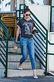 katie holmes wears a metallica shirt for casual friday outing 03