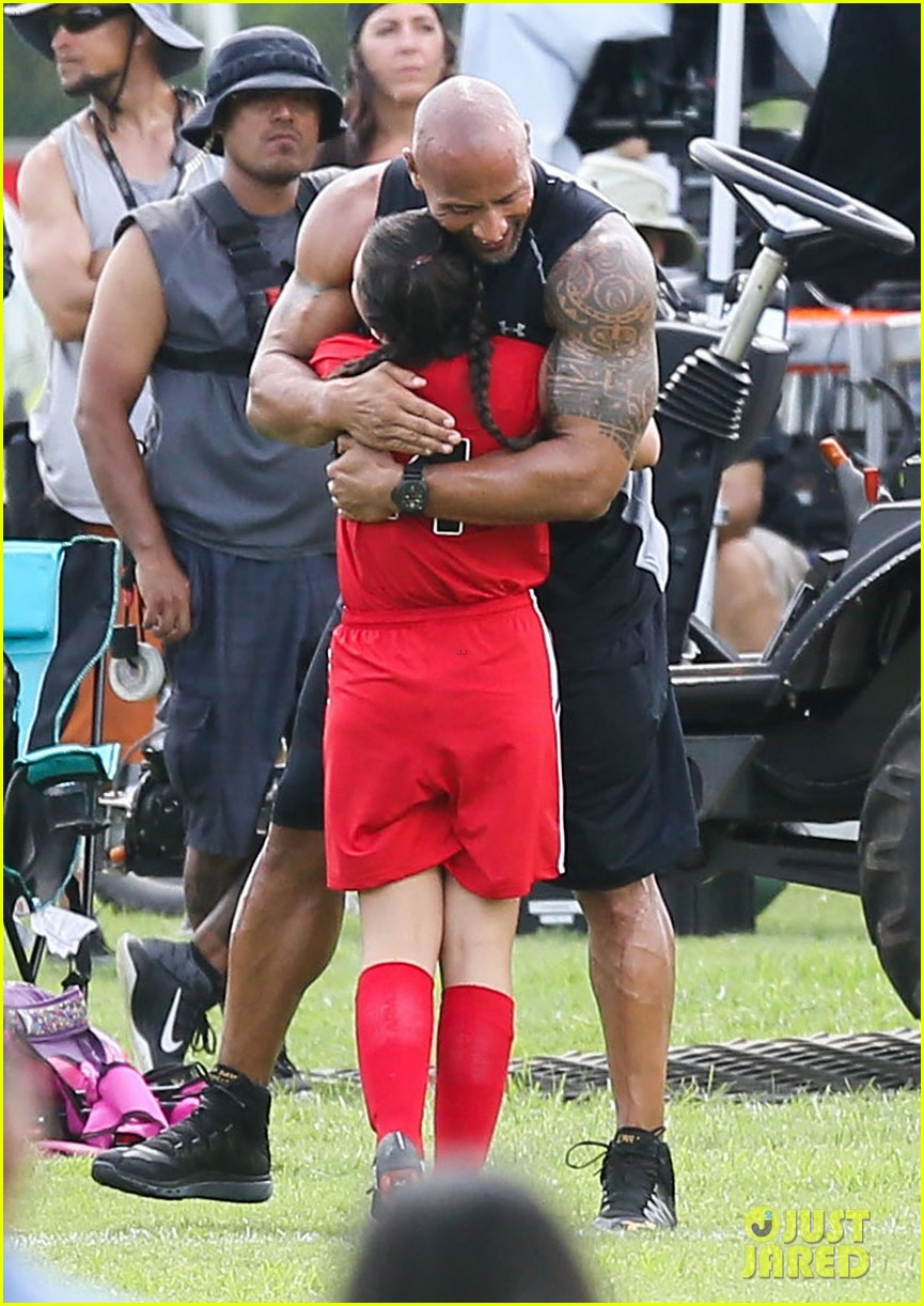 Full Sized Photo of dwayne johnson gets pumped for fast 8 ...