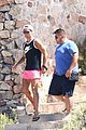 cristiano ronaldo wears brace on injured knee at the beach 12