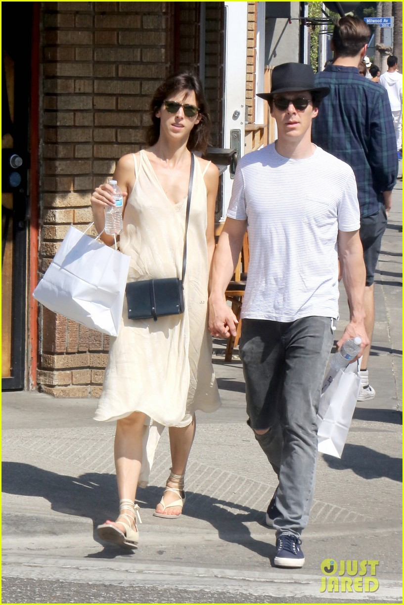 benedict cumberbatch amp his wife sophie hunter go shopping
