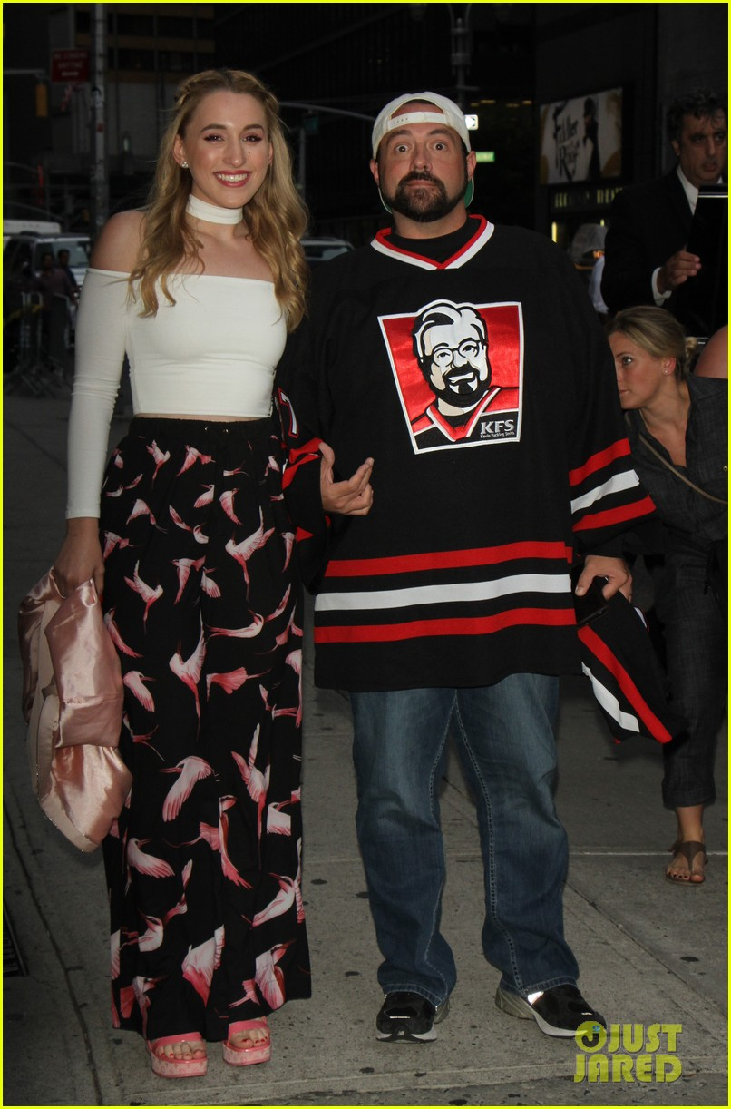 Full sized photo of harley quinn smith kevin smith aol visit yoga