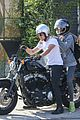 josh hutcherson girlfriend claudia traisac ride around on his motorcycle03016mytext