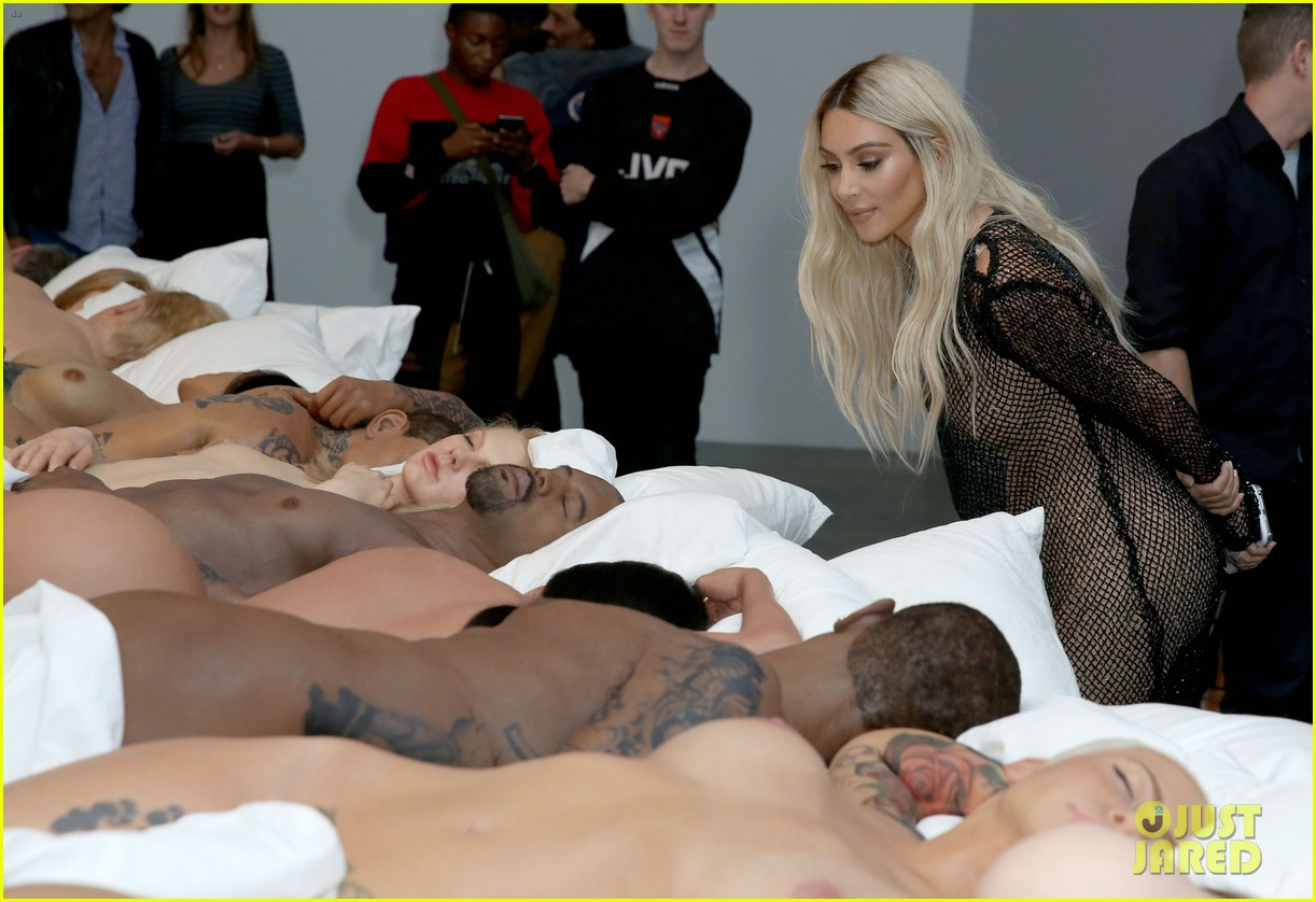 kanye west opens art gallery featuring his famous bed 11