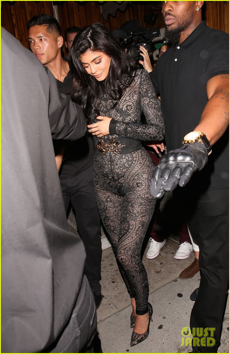 Kylie Jenner Wears Super Sexy Lace Jumpsuit For 19th
