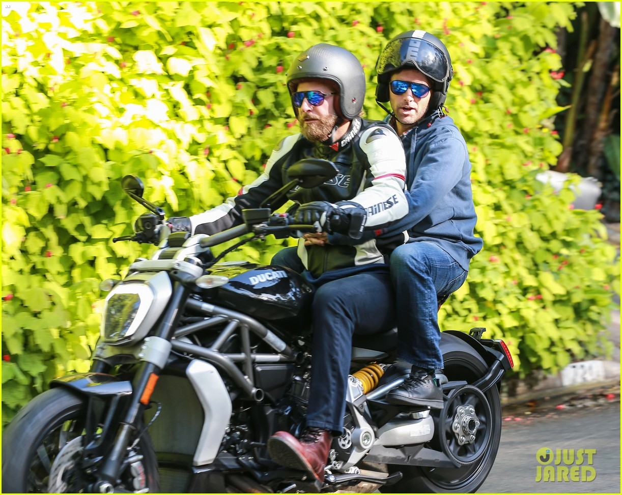 Bradley Cooper Takes His Buddy for a Motorcycle Ride Bradley Cooper