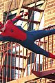 tom holland performs his own spider man stunts on nyc fire escape 13