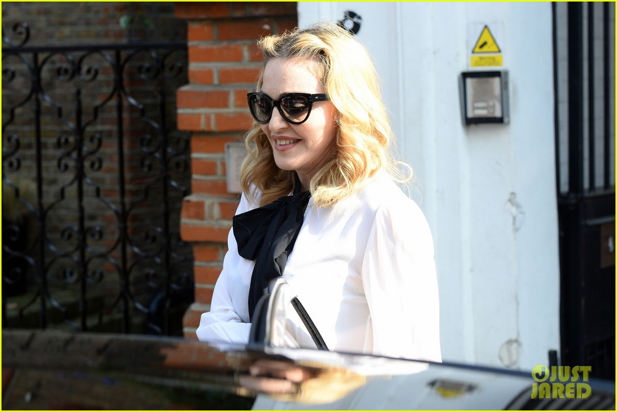 madonna visits london rocco school alone 203760708
