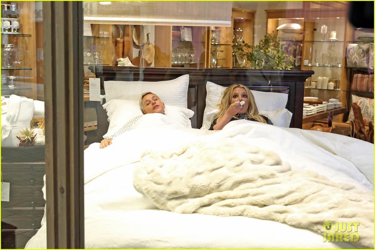 Britney Spears & Ellen DeGeneres Wreak Havoc at the Mall - Watch Now ...