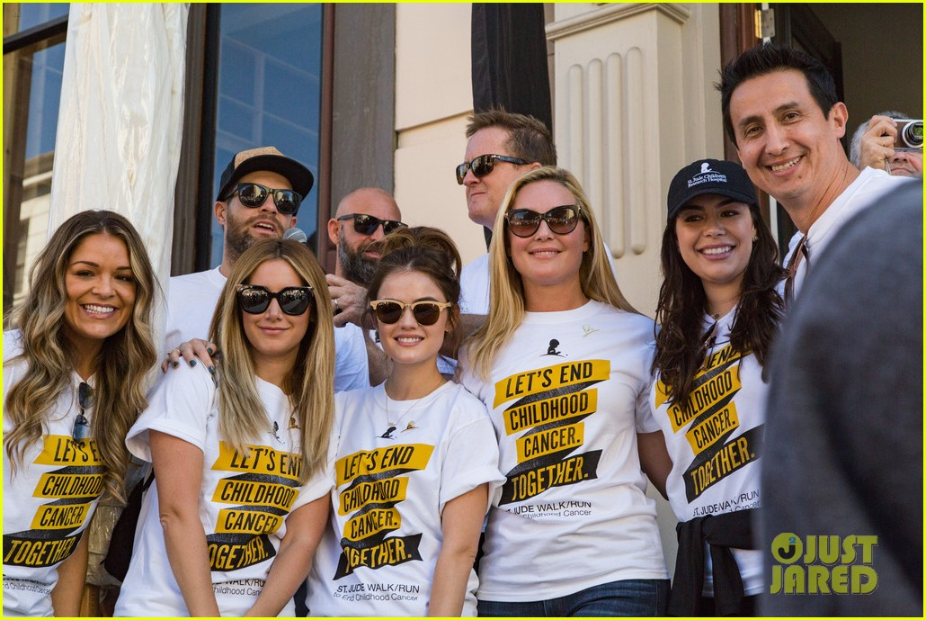 ashley tisdale lucy hale more st jude cancer walk 023769571
