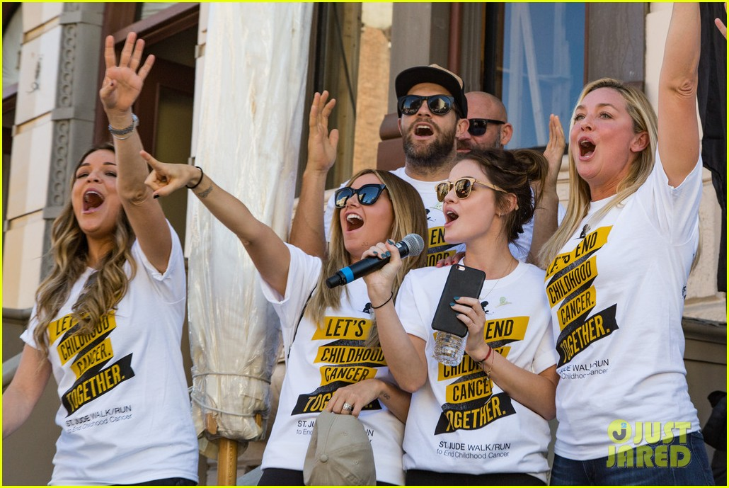ashley tisdale lucy hale more st jude cancer walk 053769574