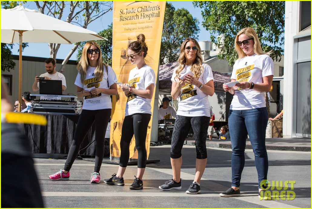 ashley tisdale lucy hale more st jude cancer walk 153769584