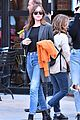 dakota johnson orange jacket soho walk 04