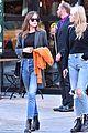 dakota johnson orange jacket soho walk 06