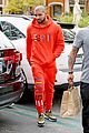 drake wears orange sweats for lunch 12