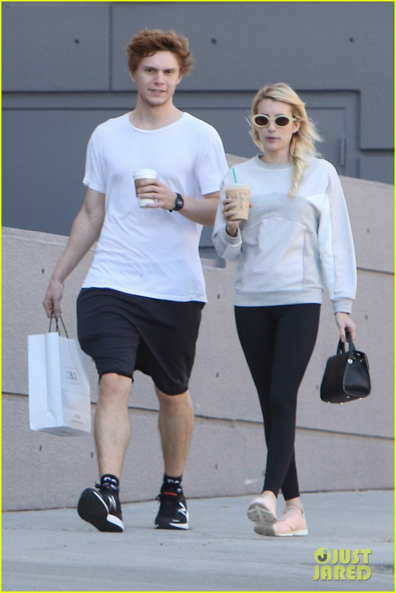 Emma Roberts amp On Again Boyfriend Evan Peters Go Shopping Photo